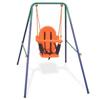 Link to vidaXL Toddler Swing Set with Safety Harness Orange Similar Items in Outdoor Play