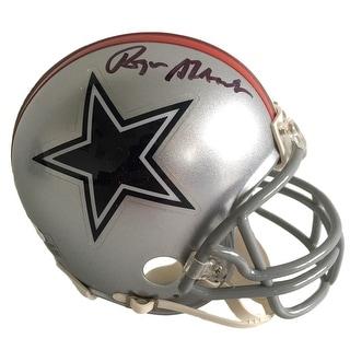 Roger Staubach Signed Dallas Cowboys 1976 Riddell Mini Helmet JSA