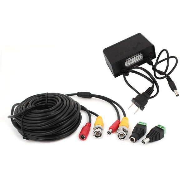 CCTV Camera Power Adapter 49Ft BNC Video Cable DC Connector Set 4 in 1