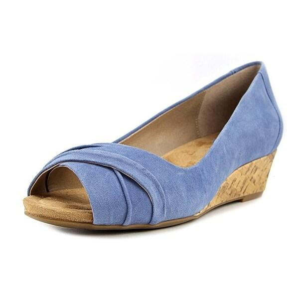 Giani Bernini Rivey Open Toe Synthetic Wedge Sandal