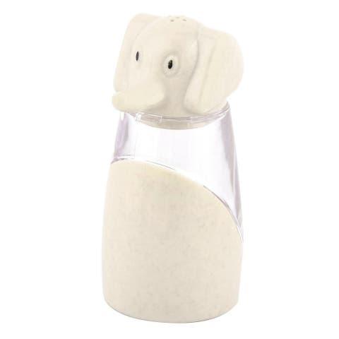 Kitchen Plastic Elephant Designed Salt Pepper Spices Condiment Container Beige