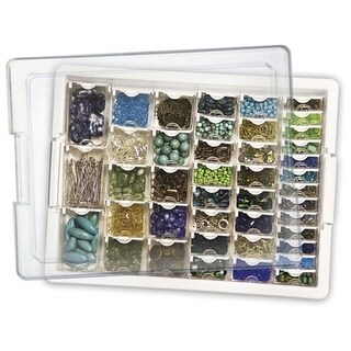 "Elizabeth Ward's Assorted Bead Tray 13.75""X10.5""X2""-"