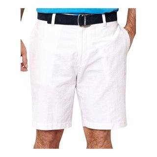 Nautica Big & Tall Seersucker Striped Paste Lilac Shorts Size 42 Trim Fit