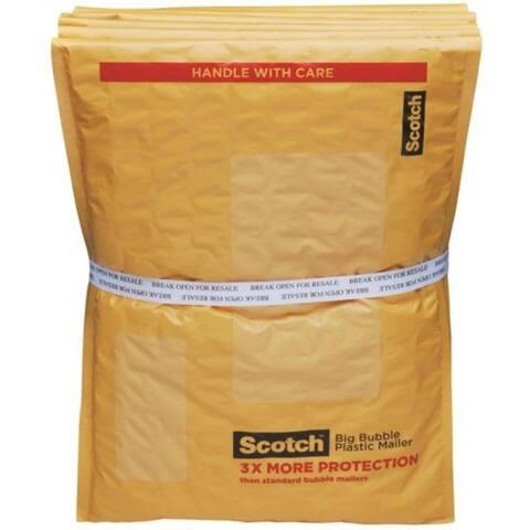 "Scotch BB8915-48 Self-Sealing Big Bubble Plastic Mailer, 14-1/2"" x 10"""