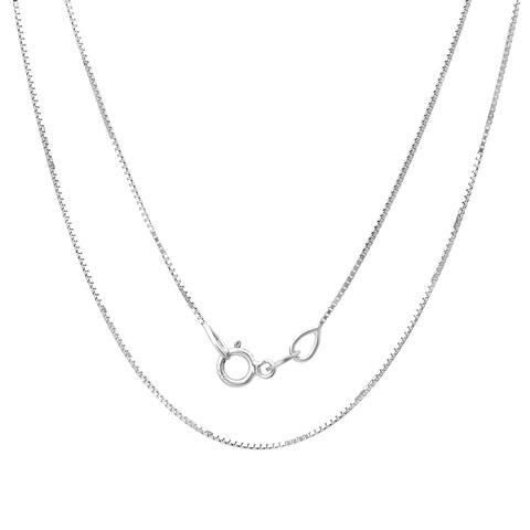 14k White Gold Box Chain Necklace (16-24 Inch) By Roberto Martinez