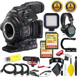 Canon EOS C100 Mark II Cinema EOS Camera with Dual Pixel CMOS AF (Body Only) + 512 GB Sandisk Extreme Memory Cards Pro Video Kit