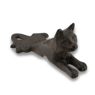 Rust Finish Cast Iron Cat Door Stop/Wedge