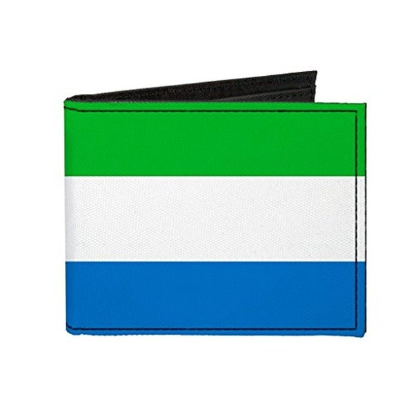 Buckle-Down Canvas Bi-fold Wallet - Sierra Leone Flag Accessory