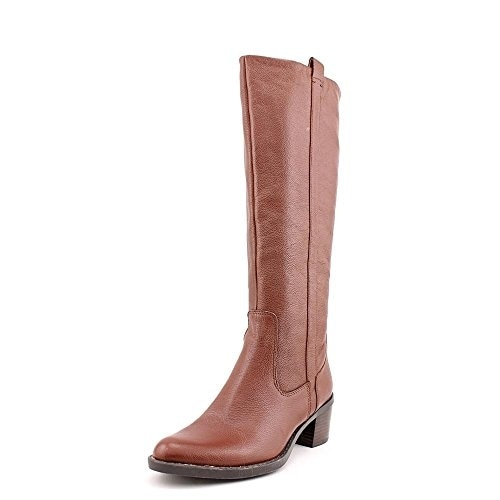 Calvin Klein Womens Haydee Extended Shaft Almond Toe Knee High Fashion Boots