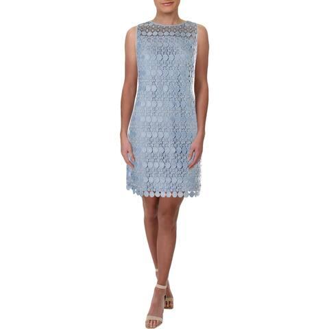 Lauren Ralph Lauren Womens Petites Cocktail Dress Lace Special Occasion