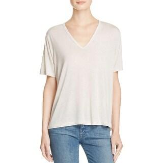J Brand Womens T-Shirt Burnout V-Neck