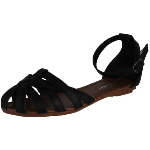 Forever Women's Vera-82 Flat Strappy Sandals