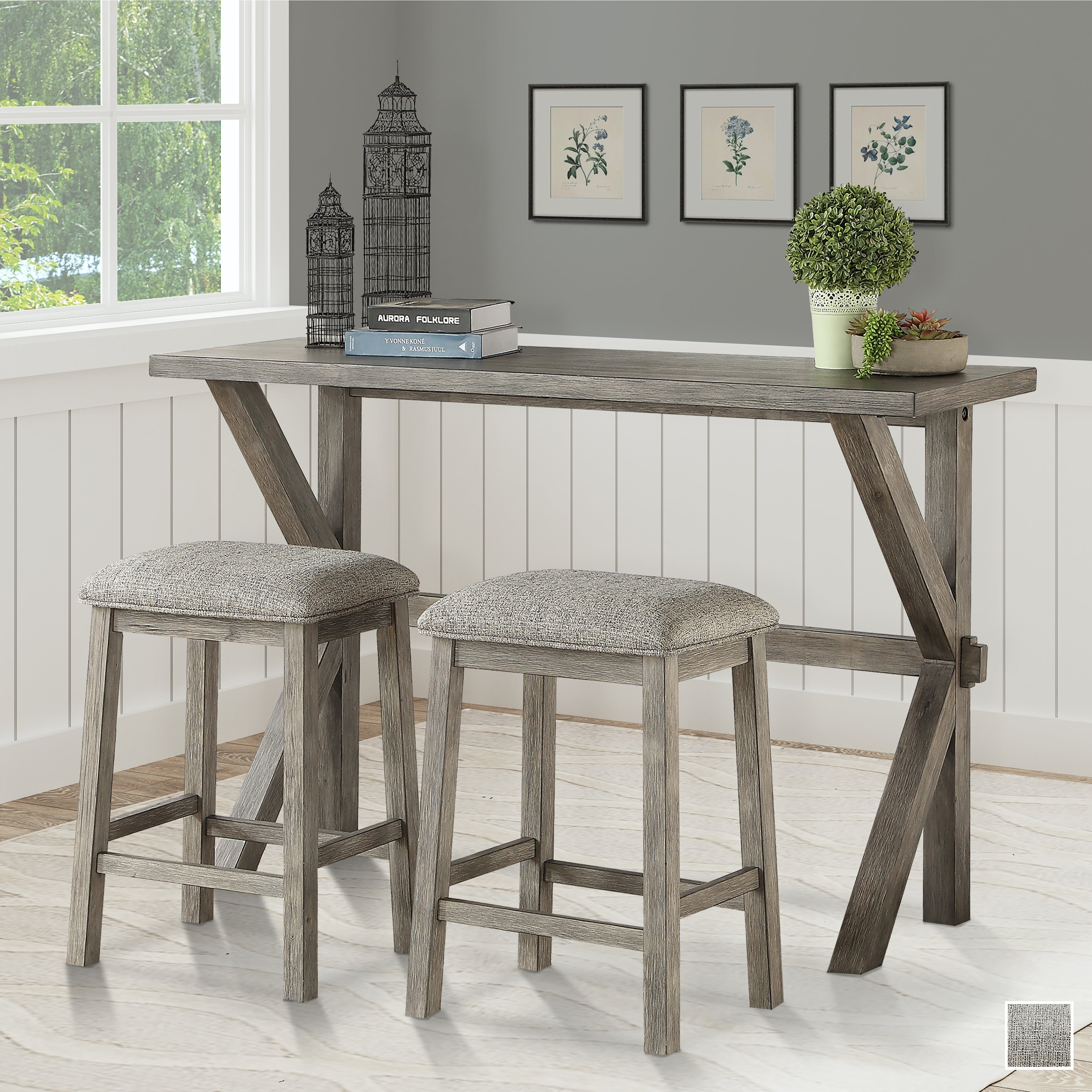 Summerdale 3 Piece Counter Height Dining Set On Sale Overstock 31845188