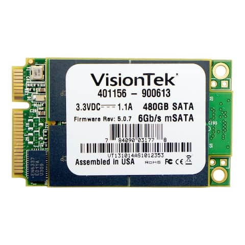Visiontek 480 GB Internal Solid State Drive Visiontek 480 GB Internal Solid State Drive - mini-SATA - 540 MB/s Maximum Read
