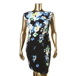 Lauren Ralph Lauren Womens Petites Printed Knee-Length Cocktail Dress - 14P