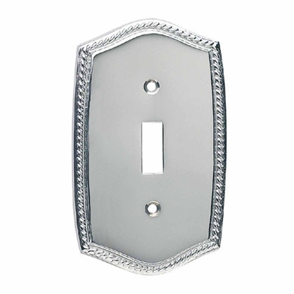 Switchplate Roped Chrome Single Toggle/Dimmer | Renovator's Supply