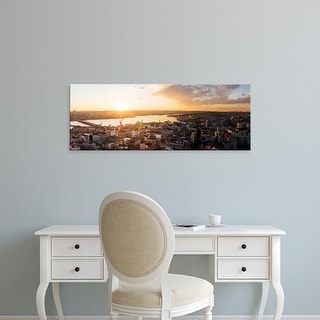 Easy Art Prints Panoramic Image 'View of cityscape from the Galata Tower, Beyoglu, Istanbul, Turkey' Canvas Art