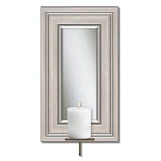PTM Images F4-123 Framed Mirror 14 Inch Tall Wall Mounted Pillar Candle Holder