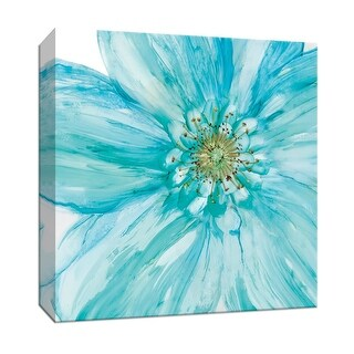 """PTM Images 9-147766  PTM Canvas Collection 12"""" x 12"""" - """"Bold Blue II"""" Giclee Flowers Art Print on Canvas"""