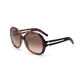 Chloe Women's Circular Oversized Sunglasses Light havana - Small