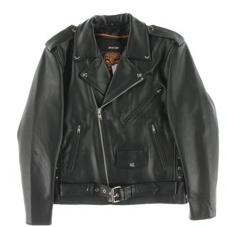 Milwaukee Leather Mens Motorcycle Jacket Outerwear Lace-Up - M