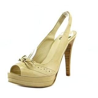 Oz ARTICOLO   Open-Toe Patent Leather  Slingback Heel