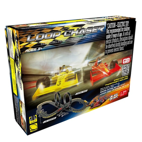 Loop Chaser Road Racing Slot Car Set - Electric Powered. Opens flyout.