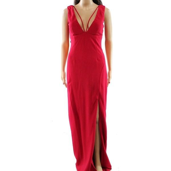 Shop Nicole Miller NEW Pink Womens Size 2 Side-Slit Seamed V-Neck ...