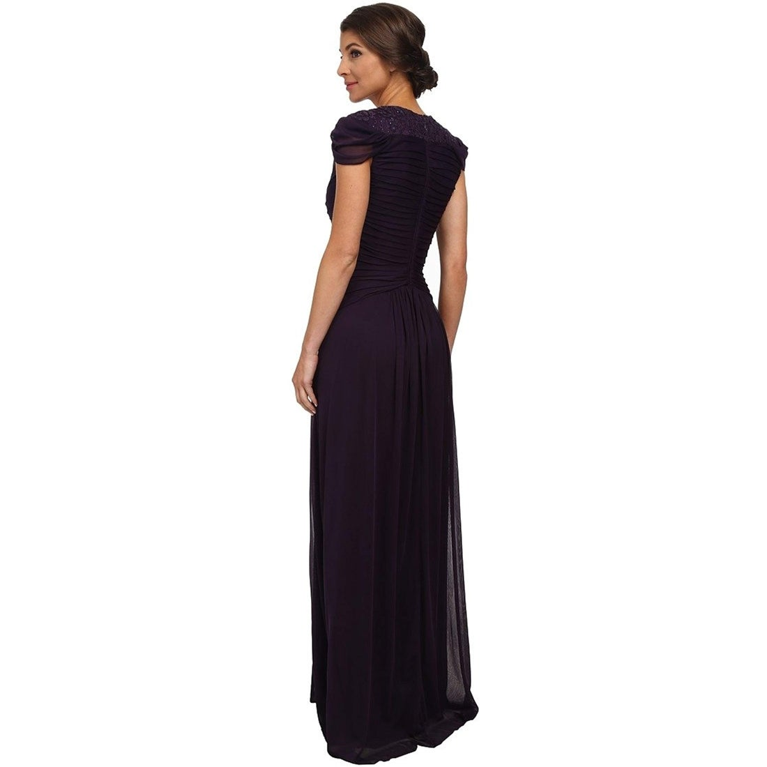 Adrianna Papell Womens Strapless Tulle Petal Party Dress