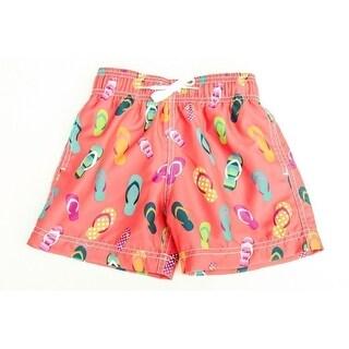 Azul Baby Boys Multi Color Drawstring Waist Flip Flop Swim Shorts