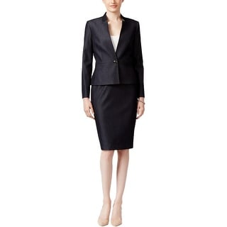 Tahari ASL Womens Skirt Suit 2PC One-Button