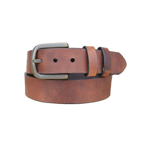 Vintage Bison Western Belt Mens Calhoun Leather Bullet Saddle