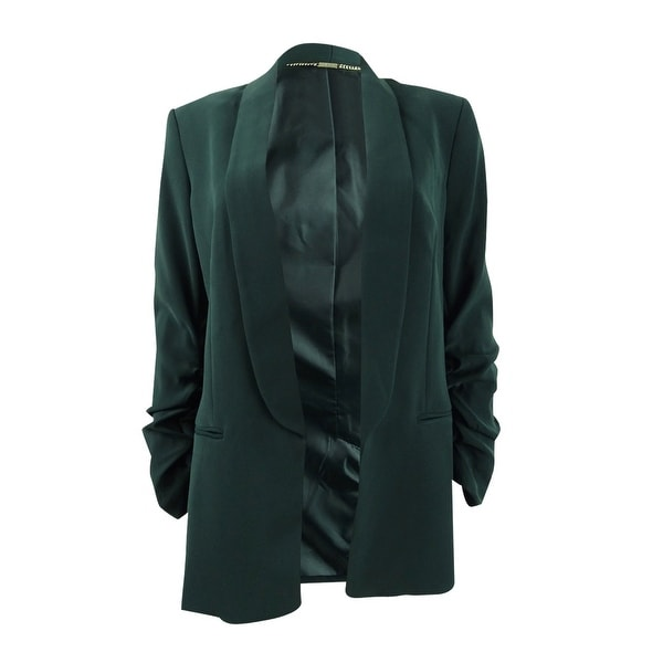 DKNY Women's Ruched-Sleeve Open-Front Blazer. Opens flyout.