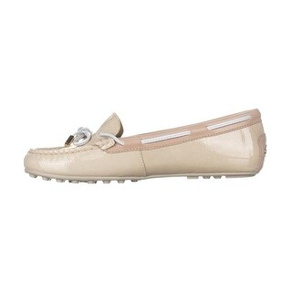 Michael Kors Womens Daisy Mocassin Leather Round Toe Boat Shoes