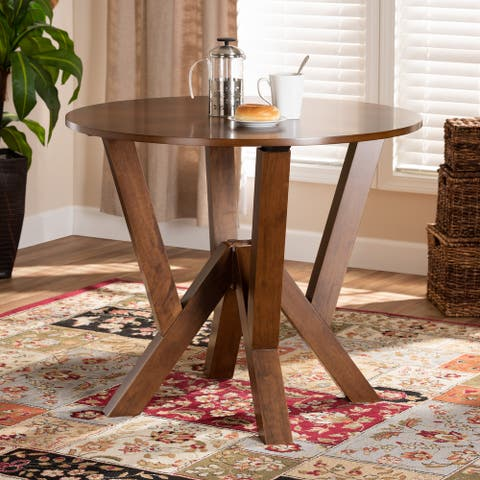 Irene Modern and Contemporary 35-Inch-Wide Round Dining Table