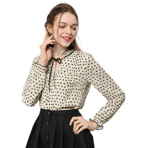 25d9d88447109 Polka Dot Tops | Find Great Women's Clothing Deals Shopping at Overstock