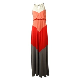 Vince Camuto Women's Colorblocked Jersey Halter Maxi Dress