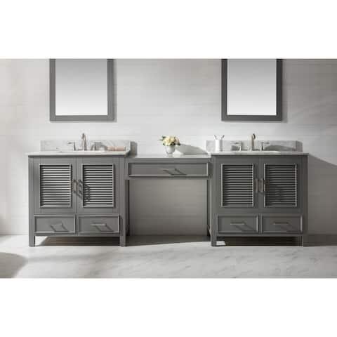 """Estate 102"""" Double Sink Bathroom Vanity Modular Set in Gray"""