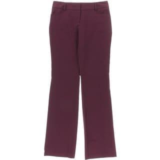 BCX Womens Juniors Dress Pants Straight Leg Solid