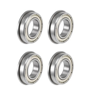 4x12x4 mm Flanged Metal Rubber Sealed Ball Bearing F604RS 10pcs F604-2RS