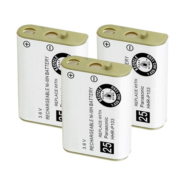 Replacement Battery For Panasonic KX-TCA256 / KX-TG2383B Phone Models (3 Pack)