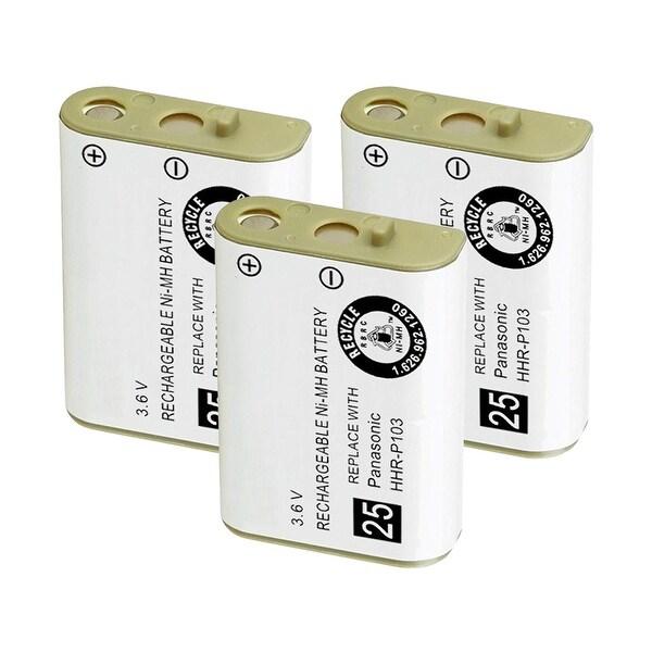 Replacement Battery For Panasonic KX-TG2352 Cordless Phones - P103 (750mAh, 3.6V, NiMH) - 3 Pack