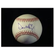 Signed Mattingly Don Major League Baseball in Blue Ink on the Sweet Spot autographed