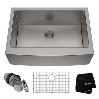 KRAUS Standart PRO Stainless Steel 30 in 1-Bowl Farmhouse Kitchen Sink