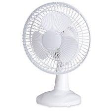 Lorell LLR49257 Desktop Fan- 6in. Tilt- 2 Speed- 6ft. Cord- 7in.x7-.67in.9-.06in.- White