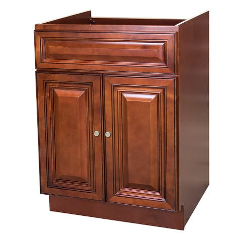 24x21 Cherry 2 Door Bathroom Vanity Cabinet