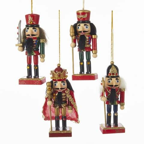 Pack of 24 Nutcracker King and Soldiers Decorative Christmas Ornaments 6""