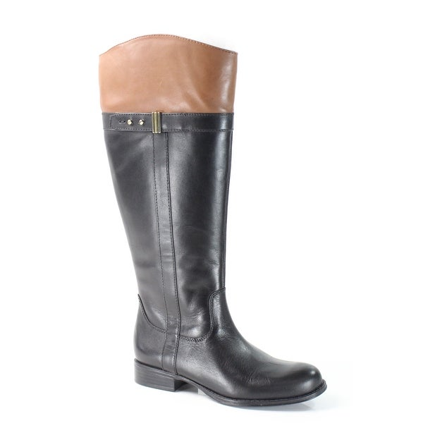 Naturalizer Black Josette Shoes 5M Knee-High Leather Boots