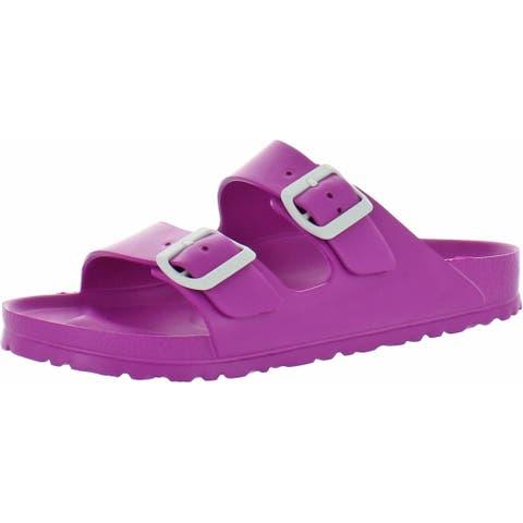Birkenstock Womens Arizona Footbed Sandals Eva Slip On - Pink