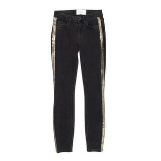 RACHEL Rachel Roy Women's Tuxedo-stripe Skinny Pants - ash wash